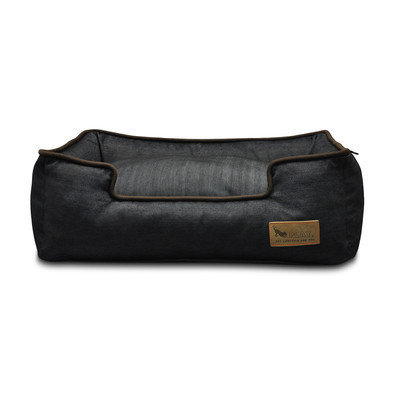 PLAY Denim Lounge Brown Dog Bed Small