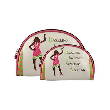 Africanamericanexpressions Diva 2 Piece Cosmetic Bag Set