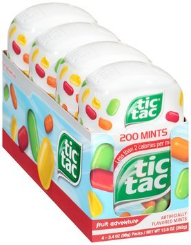 Tic® Tac Fruit Adventure Mints 4-3.4 oz. Tubs