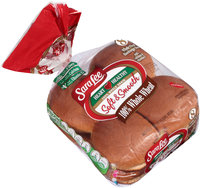 Sara Lee® Soft & Smooth® 100% Whole Wheat Hamburger Buns with Calcium & Vitamin D 8 ct Bag