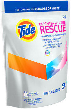 Tide Brights + Whites Rescue In-Wash Laundry Booster Pacs, 27 loads