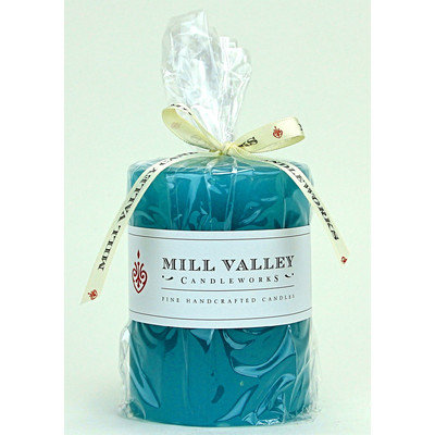 Mill Valley Candleworks Floral Seaside Scented Pillar Candle Size: 4
