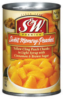 S&W® Sweet Memory Recipe Peaches in Light Syrup 15 oz. Pull-Top Can