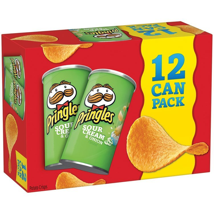 Pringles® Sour Cream & Onion Potato Crisps 12-2.5 oz. Cans