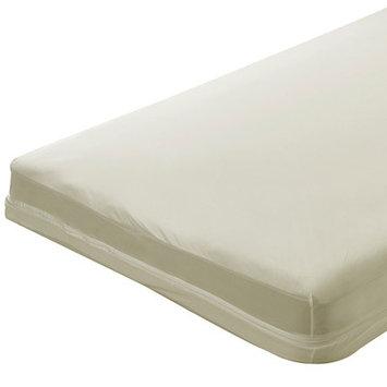 Bargoosehometextiles Zippered Natural Cotton Crib Mattress Cover Size: 5