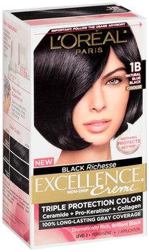 L'Oréal® Paris Excellence® Creme Triple Protection 1B Natural Blue Black Cooler Hair Color Kit Box