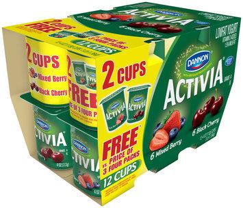 Activia Lowfat Yogurt Mixed Berry/Black Cherry 4 Oz 4 Ct
