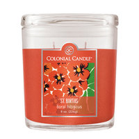 Fragranced In-line Container Fragranced inline Container CC008.2934 8oz. Oval Coral Hibiscus Pack of 4
