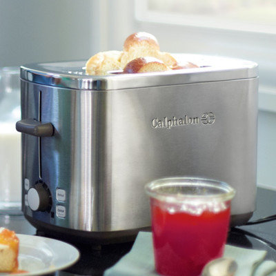 Calphalon Brushed Stainless Steel 2-Slice Toaster