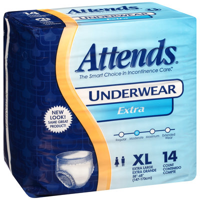 AP0740 Attends® Underwear Extra Absorbency X-Large, 14 count