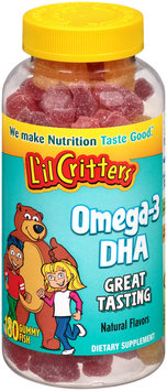 L'il Critters™ Omega-3 DHA Dietary Supplement Gummies 180 ct Bottle