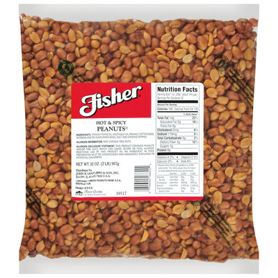 Fisher® Hot & Spicy Peanuts 32 oz. Bag
