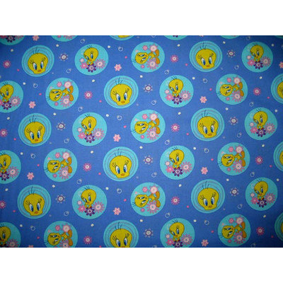 Stwd Tweety Travel Crib Light Fitted Sheet