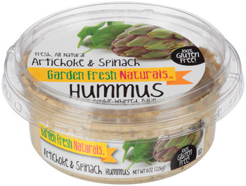 Garden Fresh Naturals® Artichoke & Spinach Hummus 8 oz. Tub