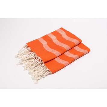 Yuka Soft Canvas Wave Hand Towel Color: Tangerine