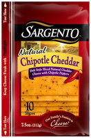Sargento® Natural Chipotle Cheddar Deli Style Thin Slices