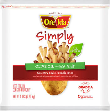 Ore-Ida® Simply Olive Oil and Sea Salt Country Style French Fries 5 lbs. Bag