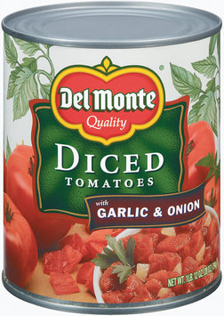 Del Monte Diced Tomatoes with Garlic & Onion 28 oz. Can