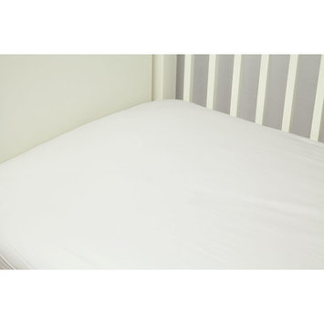 Riegel Cotton Solid Crib Sheet Color: White
