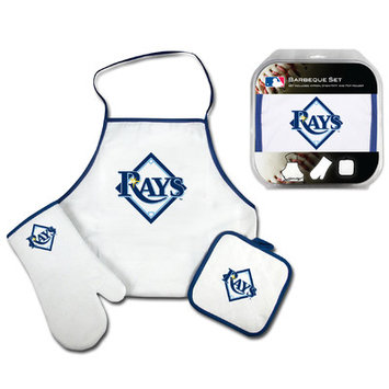 Mcarthur Towel WinCraft Tampa Bay Rays 3-Piece BBQ Set - White