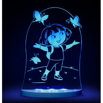 Compassco Nickelodeon Dora the Explorer and Butterfly LED 3 Light Night Light