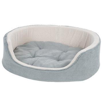 Paw Suede Cuddle Round Pet Bed Size: Medium (26