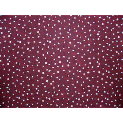Sheetworld Cloudy Stars Portable Mini Fitted Crib Sheet Color: Burgundy