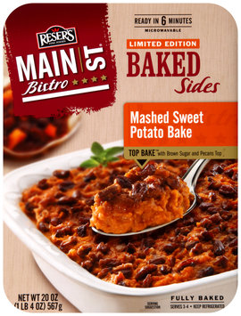 Reser's Fine Foods® Main St. Bistro® Mashed Sweet Potato Bake Baked Sides 20 oz. Tray