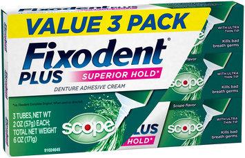 Control Plus Scope Flavor Fixodent Plus Scope Superior Hold Adhesive Cream, 2 oz, 3 PACK