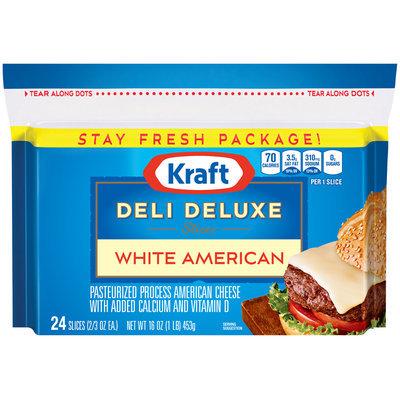 Kraft Deli Deluxe White American Cheese Slices 24 ct Bag