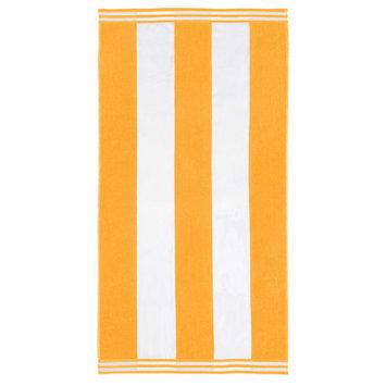Wayfair Basics Superior Oversized Cotton Cabana Stripes Beach Towel Color: Orange