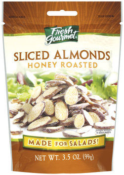 Fresh Gourmet Honey Roasted Sliced Almonds 3.5 Oz Peg