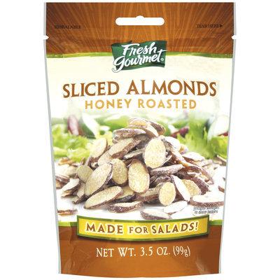 Fresh Gourmet Honey Roasted Sliced Almonds 3.5 Oz Peg