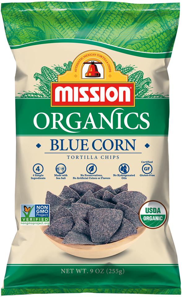 Mission® Organics Blue Corn Tortilla Chips 9 oz. Bag