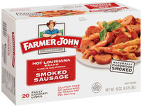 Farmer John Hot Louisiana Brand Smoked Sausage 20 ct Box