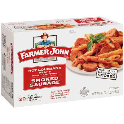 Farmer John Hot Louisiana Brand Smoked Sausage 20 ct Box