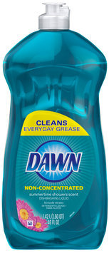 Dawn Non-Concentrated Summertime Showers Scent Dishwashing Liquid 48 fl. oz. Bottle