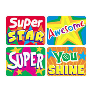 TREND ENTERPRISES INC. T-47155 APPLAUSE STICKERS STARS