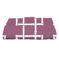 Bay Isle Home North Bay Bamboo 1 Geometric Print Bath Towel Color: Purple