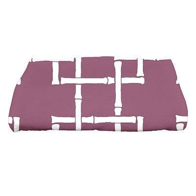 Bay Isle Home North Bay Bamboo 1 Geometric Print Bath Towel Color: Purple