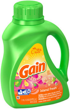 Gain Liquid Laundry Detergent, Island Fresh Scent, 25 Loads 40 Fl Oz