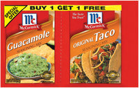 Mexican Guacamole 1 Oz/Original Taco 1.25 Oz Seasoning Mix 2 Ct Packet