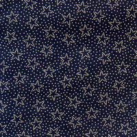 Stwd Dotted Stars Crib Sheet Color: Navy