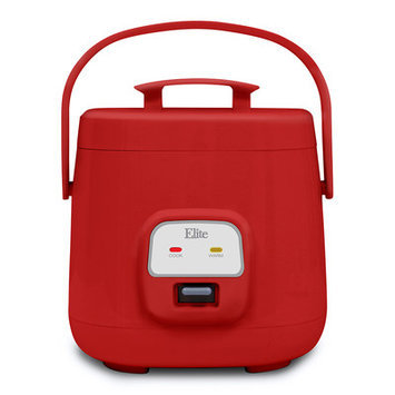 Elite By Maxi-matic Cuisine 4-Cup Personal Multi Cooker Color: Red
