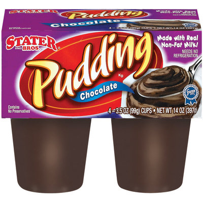Stater Bros. Chocolate Pudding 4 Ct Cups