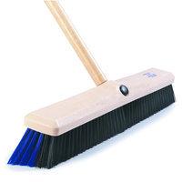 Carlisle 4187000 - Floor Broom Head, 18-in Wood Block & Long Medium-Fi