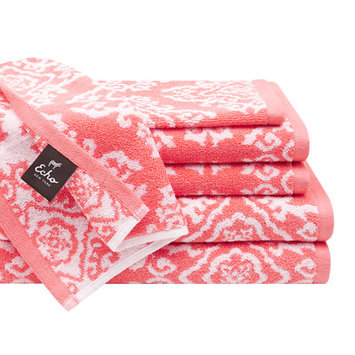 Jla Home Echo Design Surat 6-Piece Cotton Jacquard Towel Set