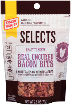 Oscar Mayer Selects Real Uncured Bacon Bits 2.8 oz. Pouch
