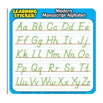 TEACHERS FRIEND TF-7002 MODERN MANUSCRIPT ALPHABET LEARNING STICKERS