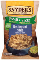 Snyder's of Hanover® Reduced Fat Restaurant Style Tortilla Chips